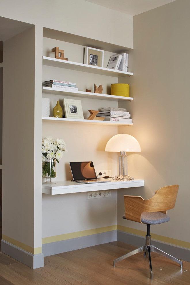 niche pour un bureau à l'intérieur