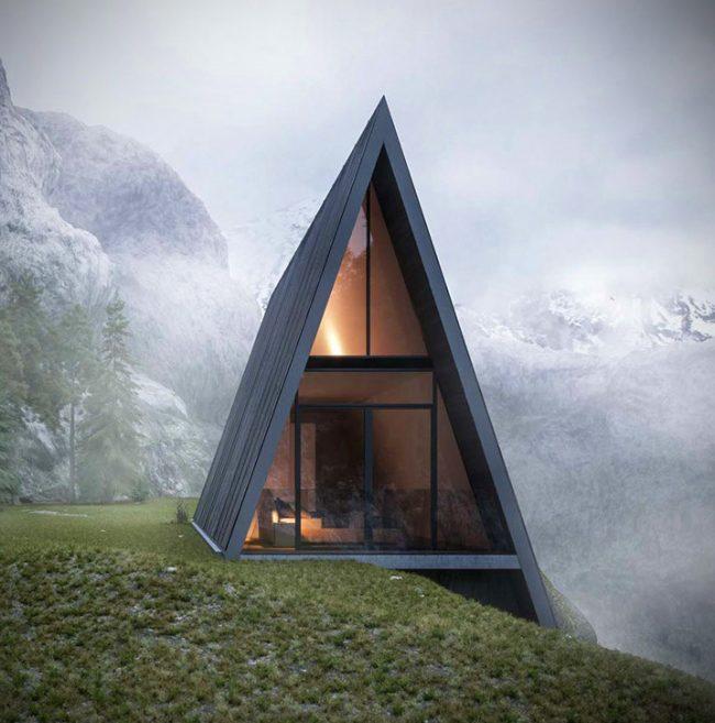 Le projet original d'une maison à flanc de montagne