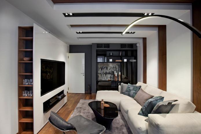 TV à l'intérieur du hall dans un style moderne
