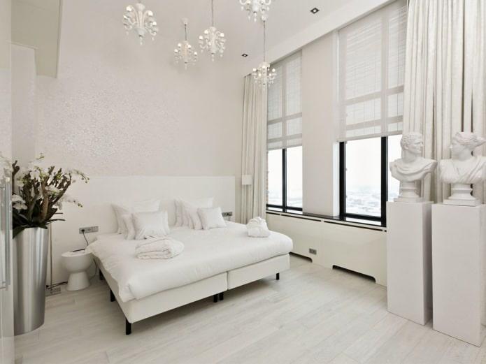 Parquet blanc dans la chambre