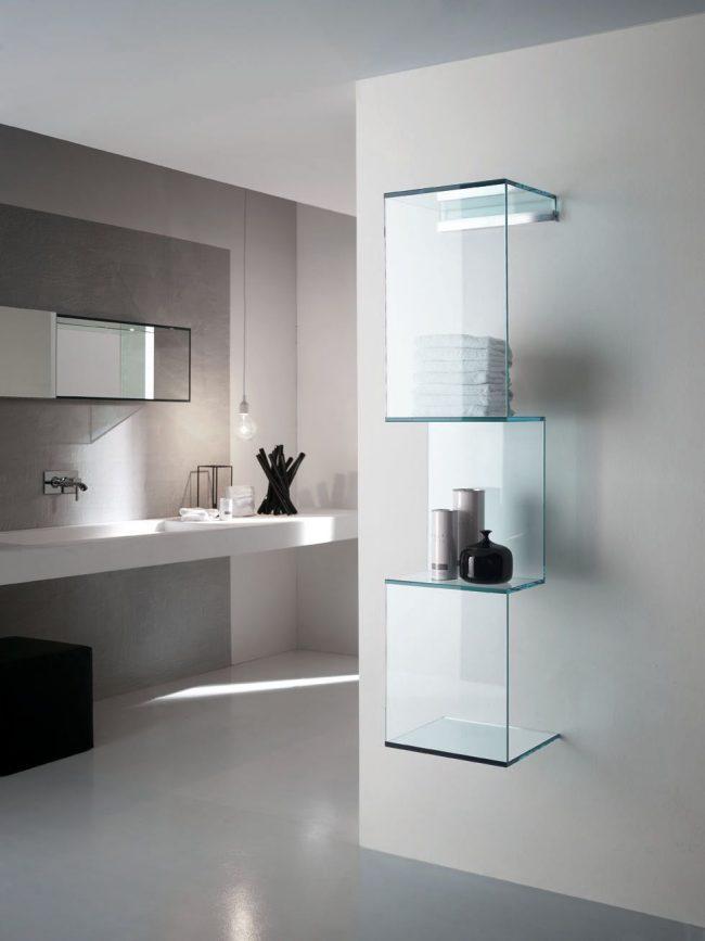 Étagère en verre sur mesure IKEA
