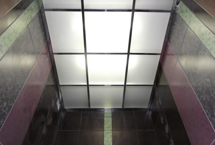 structure de plafond de verre dans la salle de bain