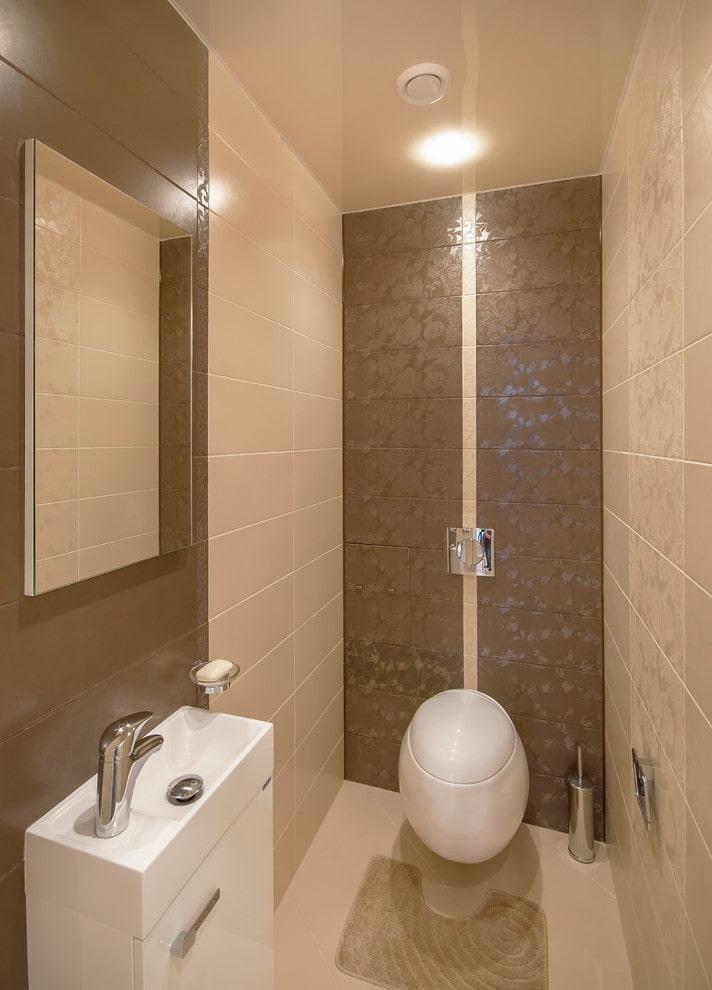 tissu stretch beige dans la salle de bain