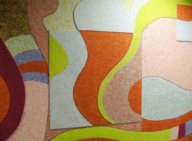 Papier peint de rayures chaotiques lumineuses
