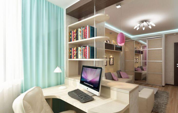 l'intérieur du bureau dans le salon