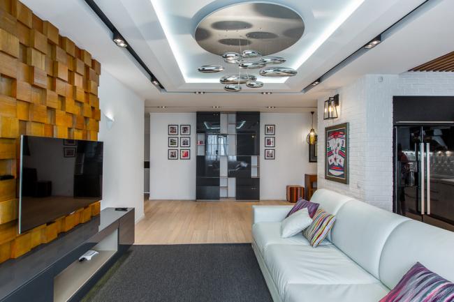 Double spots dans un salon moderne