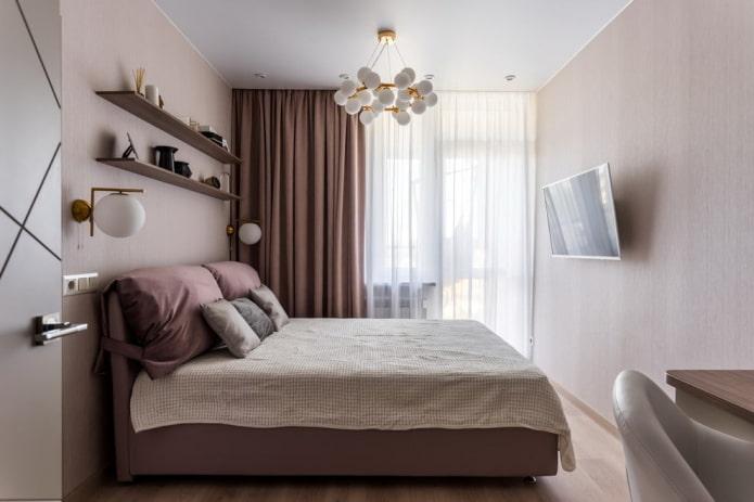 étagères au dessus du lit