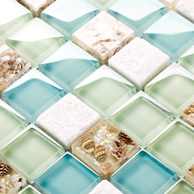 Une mosaïque de verre économique mais très efficace fabriquée en Asie