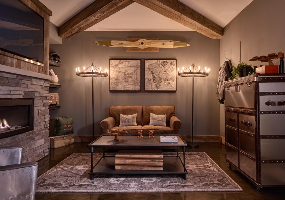 L'image classique du style loft viendra compléter la décoration murale