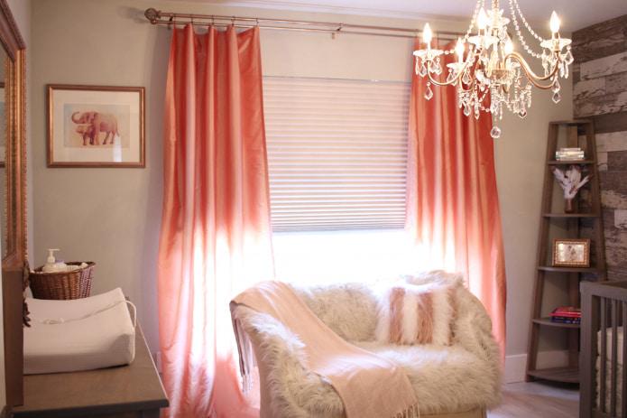 rideaux de satin