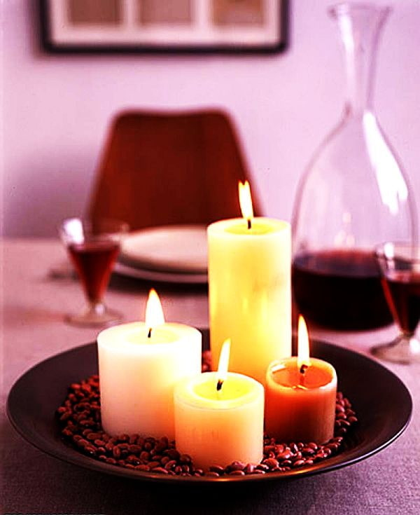 Bougies sur la table