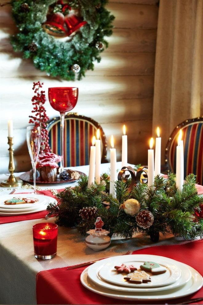 Bougies dans la composition du nouvel an