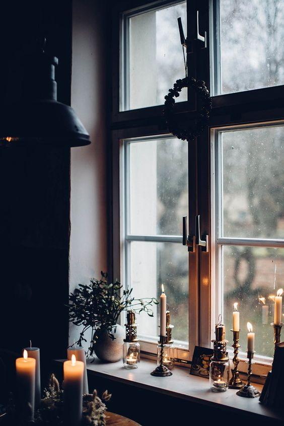Reflet de bougies