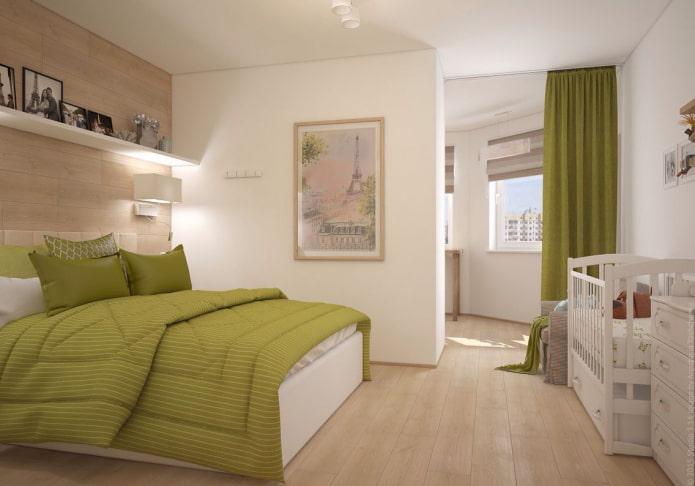 disposition des meubles dans la chambre et la pépinière