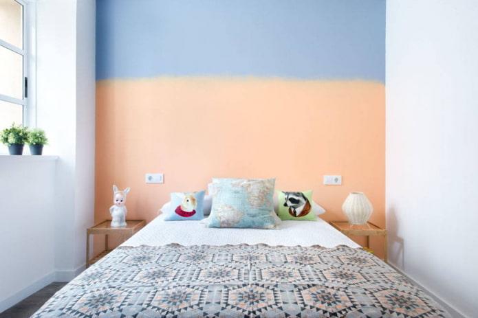 Tête de lit bicolore