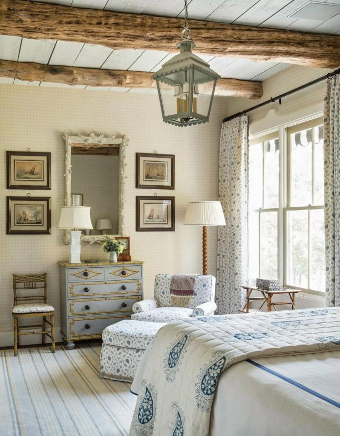 chambre lumineuse de style provençal