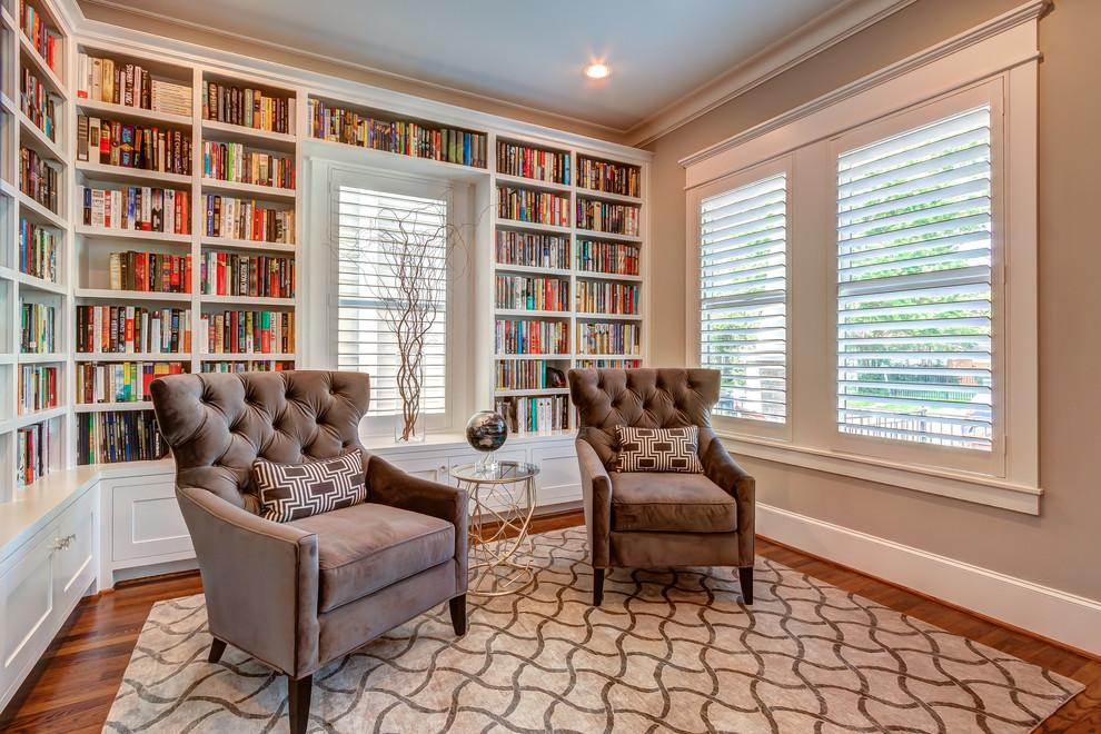 Conception de petite salle, décorée en couleur beige