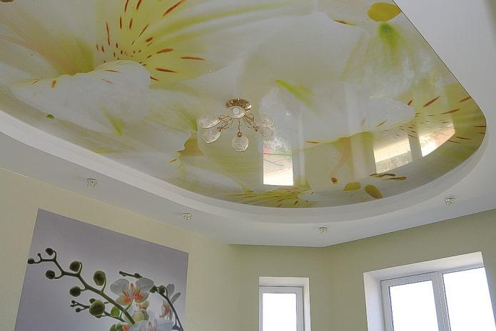 plafond avec des orchidées