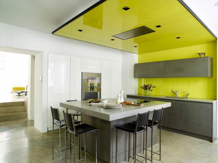 plafond vert clair