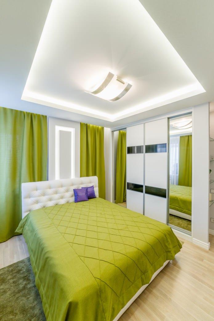 textiles vert clair dans la chambre