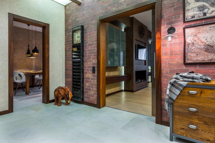 arcs carrés à l'intérieur du couloir