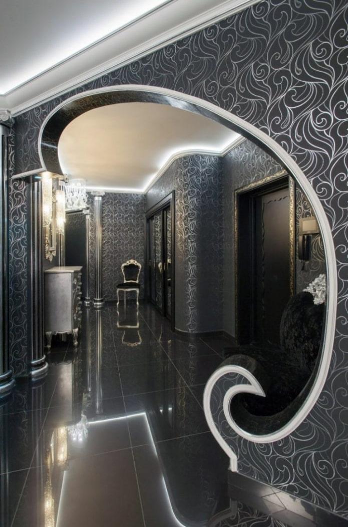 demi-arc à l'intérieur du couloir