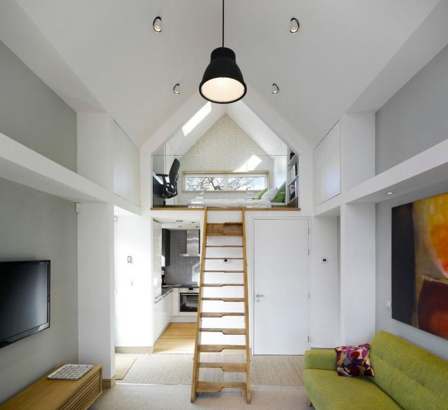 Les hauts plafonds aideront à créer un intérieur unique