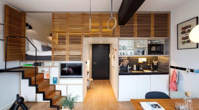 Appartement en duplex grâce à de hauts plafonds