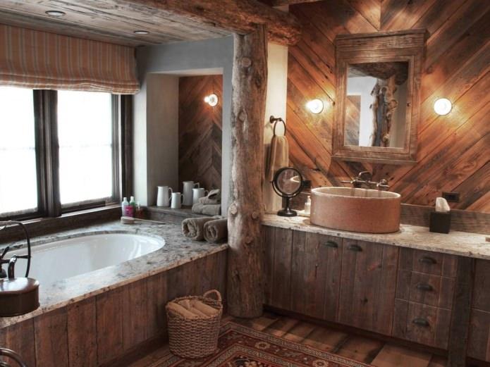 salle de bain de style campagnard