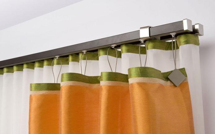 Supports de rideaux magnétiques