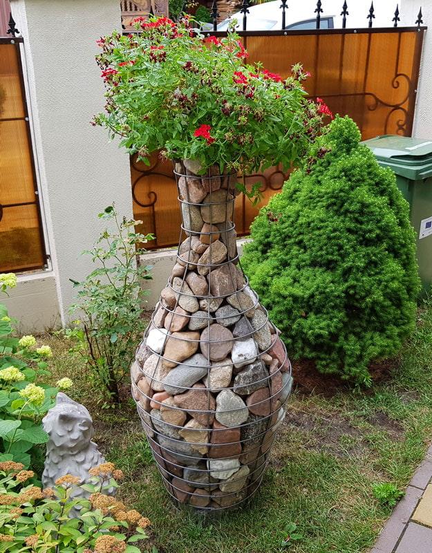 gabion en forme de vase