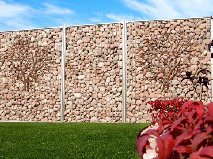 clôture vierge en gabions
