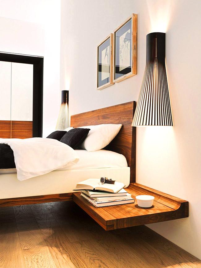 Le design austère d'un lit en bois sera une solution design gagnante