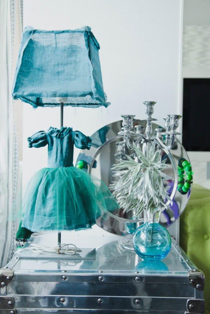 accessoires d'intérieur bleus