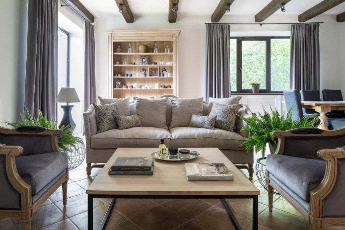 Groupe de meubles rembourrés