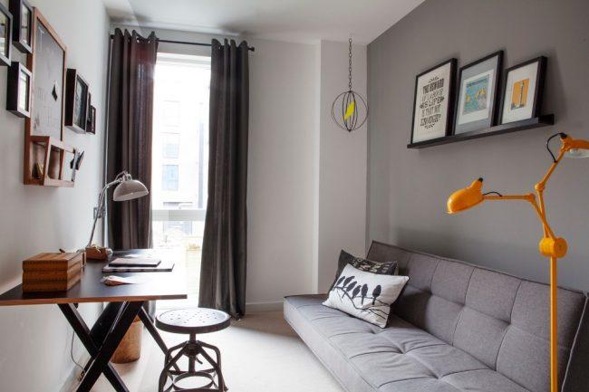 Un canapé avec un système click-gag est une excellente solution pour une petite chambre