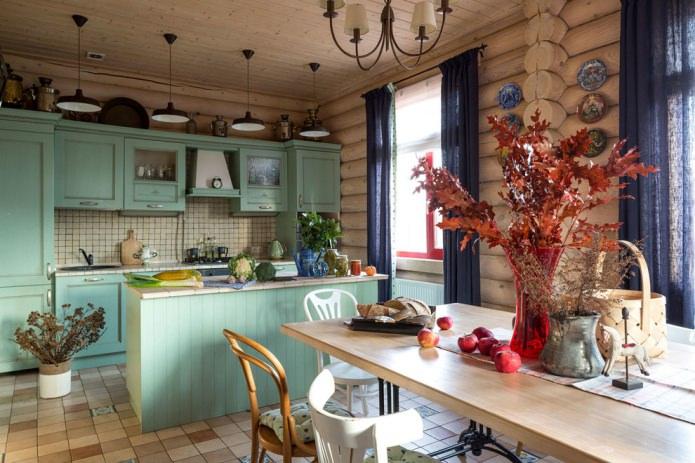 intérieur de cuisine de banlieue
