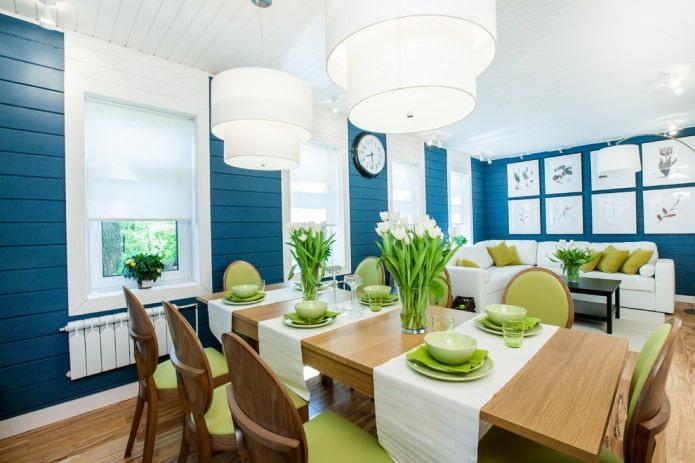 intérieur cuisine-salle à manger