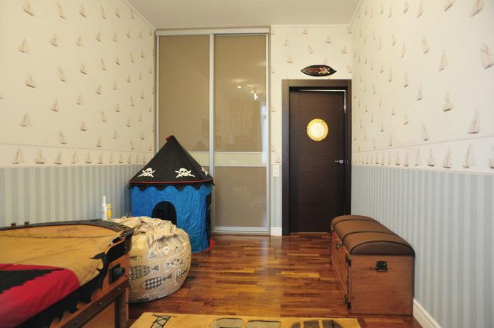 portes intérieures de couleur wengé dans la pépinière