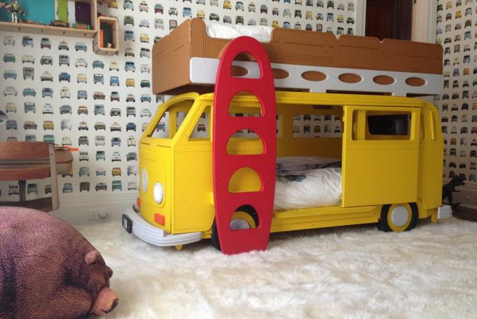 lits superposés-bus dans la crèche
