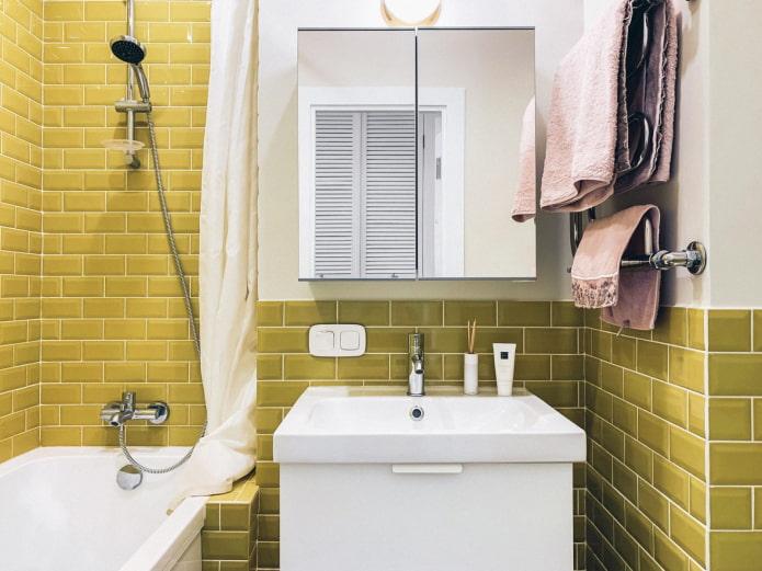 porc moutarde dans la salle de bain