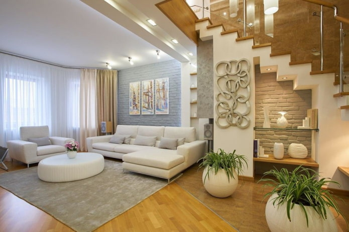 Salon dans une maison privée