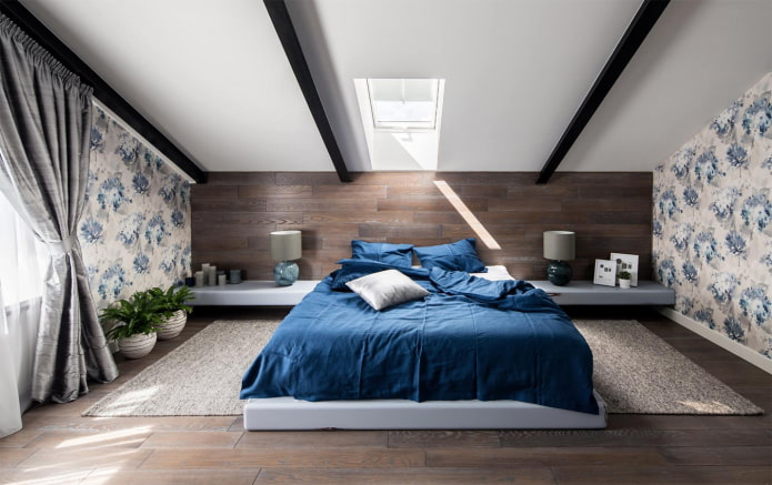 mur derrière le lit