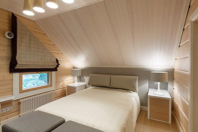 murs en bois dans la chambre