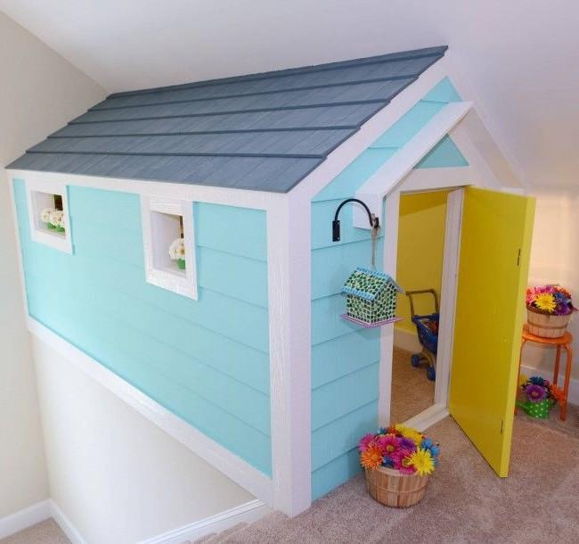 Maison maison de jeu bleu