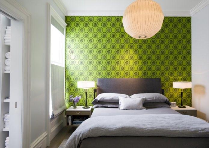 papier peint vert dans un style moderne