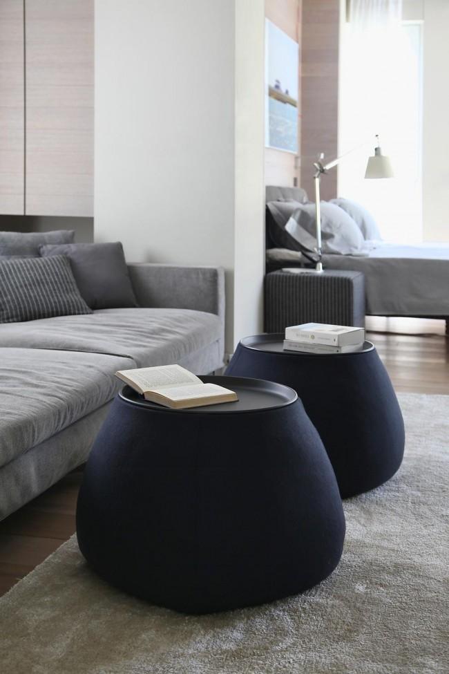 Table recouverte de tissu doux - un petit accent qui réchauffe visuellement