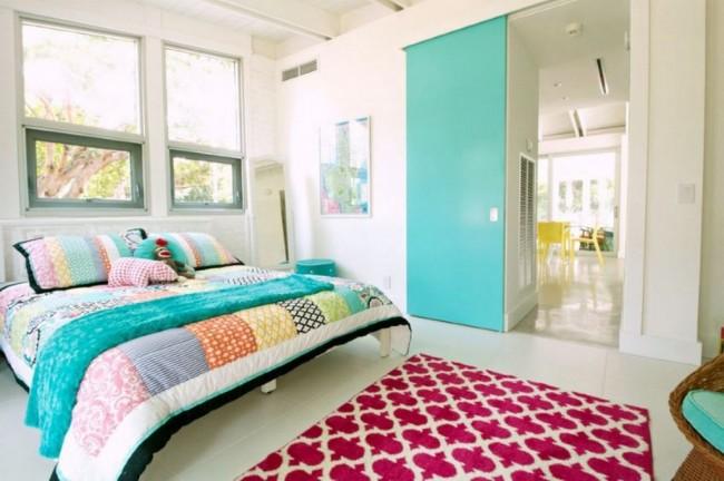 Un exemple de bon emplacement du lit dans la chambre