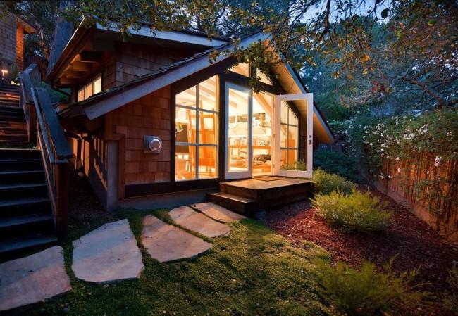 Une petite maison de campagne construite selon la méthode du cadre