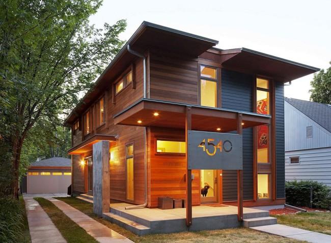 Une maison à ossature peut être à la fois élégante et peu coûteuse.